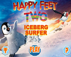 Happy feet 2 Iceberg Surfer
