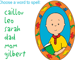 Spelling Caillou