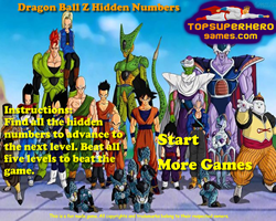Dragon Ball Z Hidden Numbers